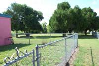 An empty side yard